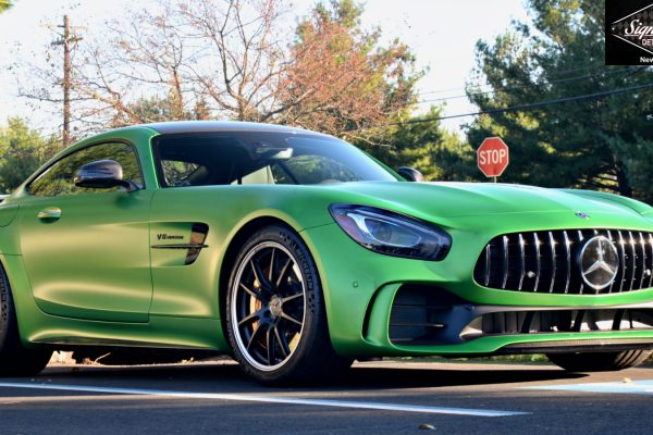 AMG GTR in for Full Matte Clear Bra Paint Protection Film Installation by Signature Detailing New Jersey.