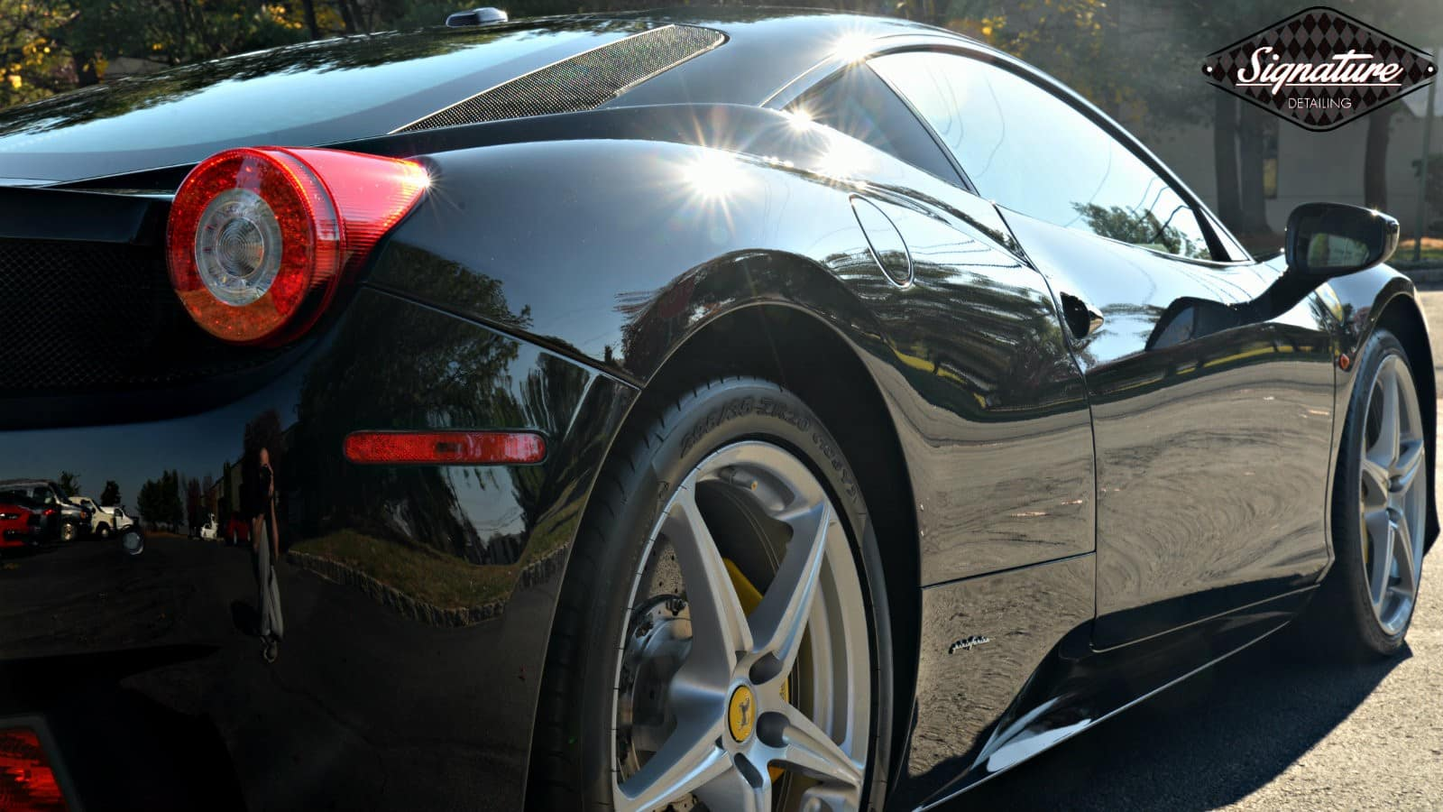 This Ferrari 458 was fully corrected and protected with Xpel Ultimate PPF by Signature Detailing NJ.