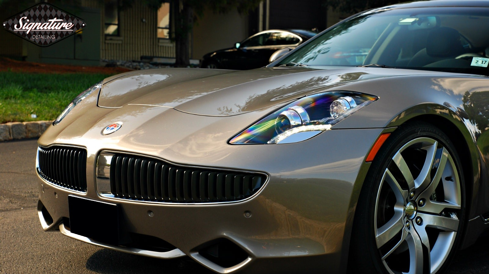 This Fisker Karma was fully paint corrected and protected with xpel ultimate by signature Detailing NJ.