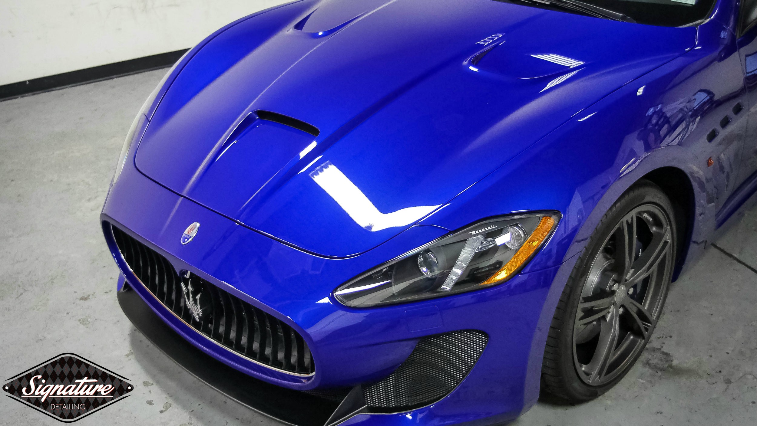 This Maserati was fully paint corrected at signature detailing nj.