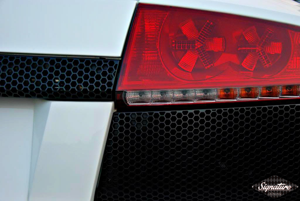 Paint Protection Film Removal & CQuartz Finest Coating Install - Custom 2009 Murciélago LP 640 coupé - Rear Lights