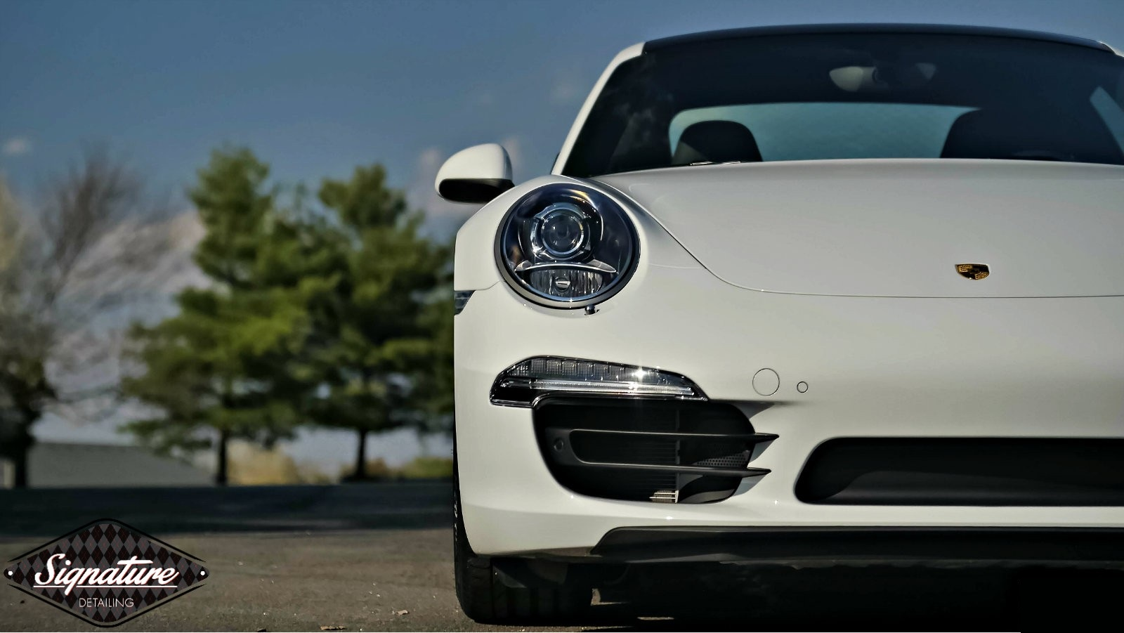 A ceramic nano coating protects this Porsche Carrera 4a from UV and the elements.