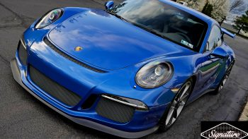 Xpel Ultimate PPF and a ceramic nano coating protect this Porsche GT4 from all road debris on the roads of NJ & NYC.