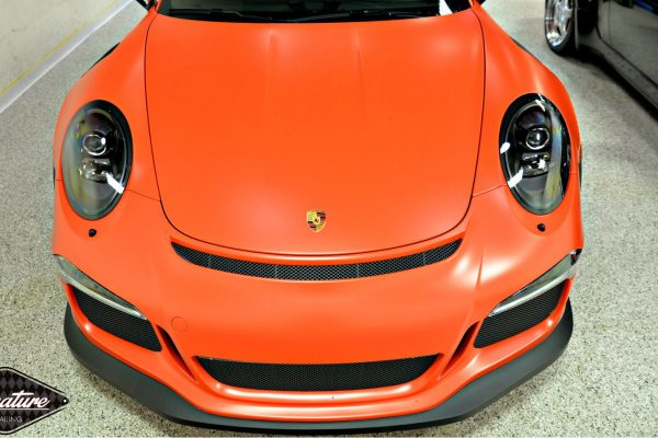 Porsche GT3RS with Matte Paint Protection Film by Greg Gellas of Signature Detailing NJ & NYC