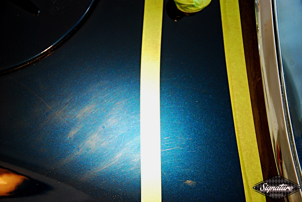 Shelby Cobra Replica Restoration Detail - Signature Detailing New Jersey - 50-50 condition before