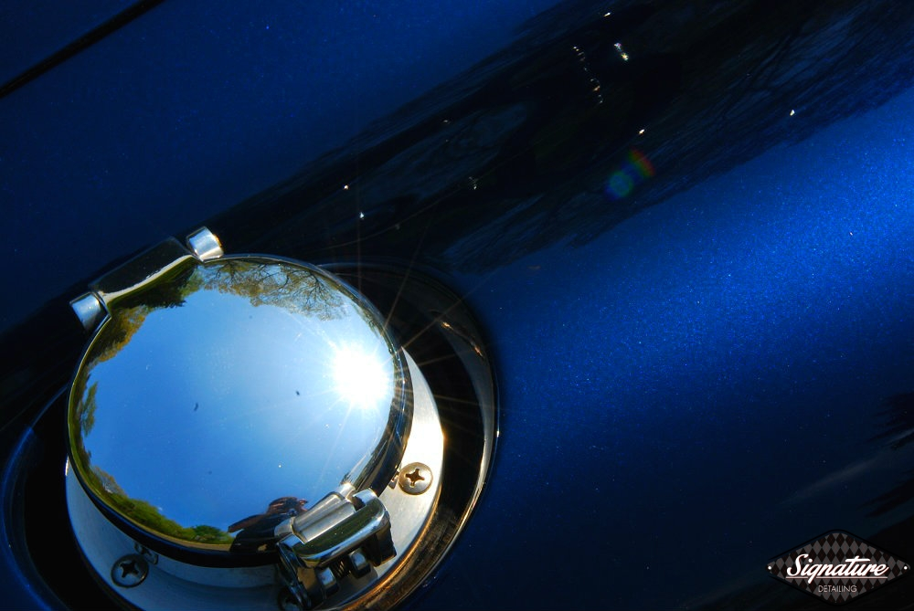 Shelby Cobra Replica Restoration Detail - Signature Detailing New Jersey - finished gas cap sun