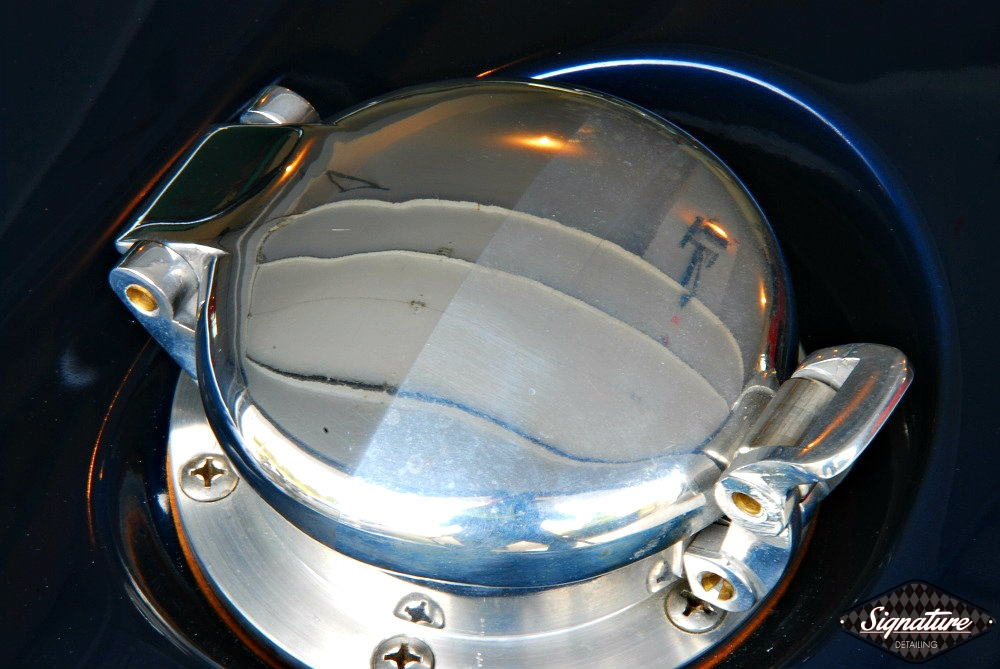 Shelby Cobra Replica Restoration Detail - Signature Detailing New Jersey - gas cap before