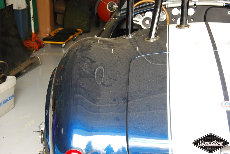 Shelby Cobra Replica Restoration Detail - Signature Detailing New Jersey - rear view dirty