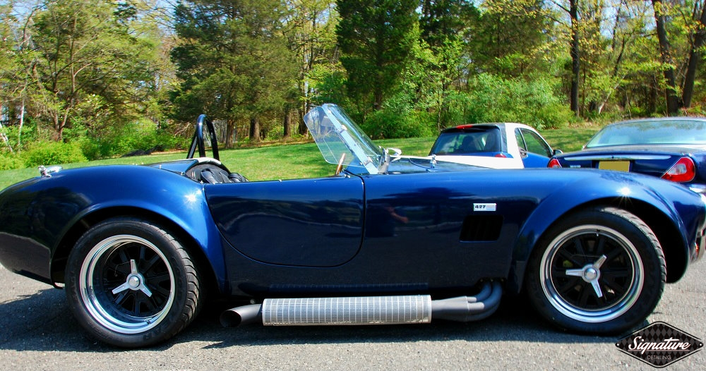 Shelby Cobra Replica Restoration Detail - Signature Detailing New Jersey - sideview sun