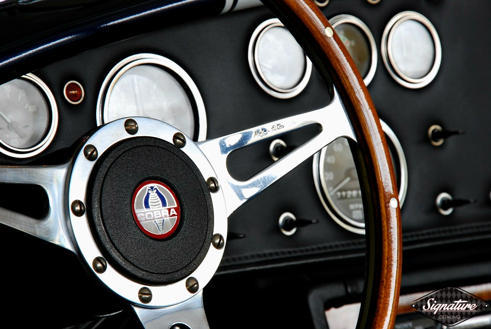 Shelby Cobra Replica Restoration Detail - Signature Detailing New Jersey - steering wheel