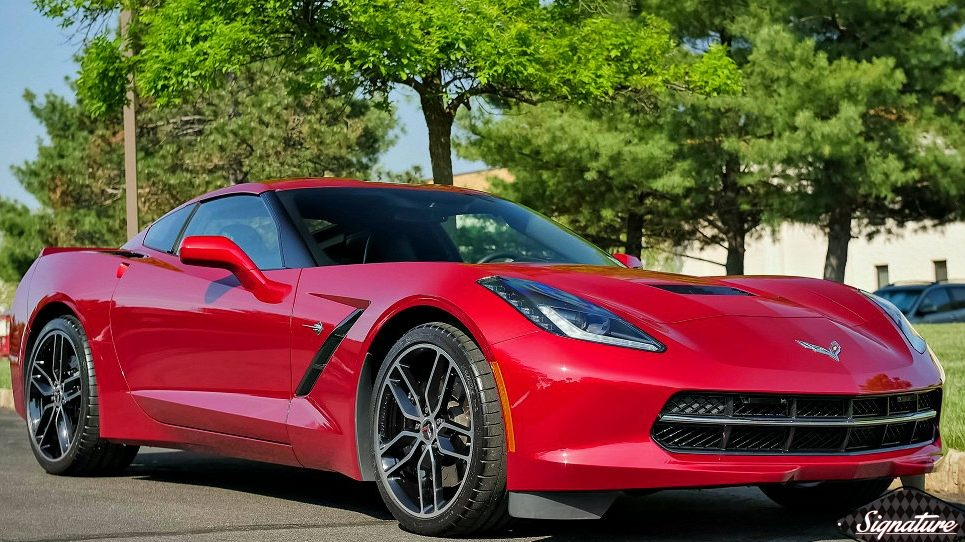 Corvette C7 Stingray received two step paint correction & CQuartz Finest Ceramic Paint Coating