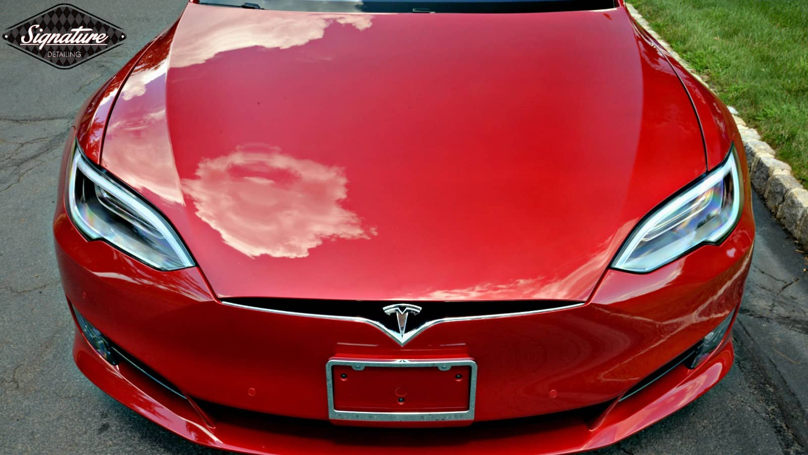 Full front end protection for this Tesla Model S, installed by Signature Detailing NYC