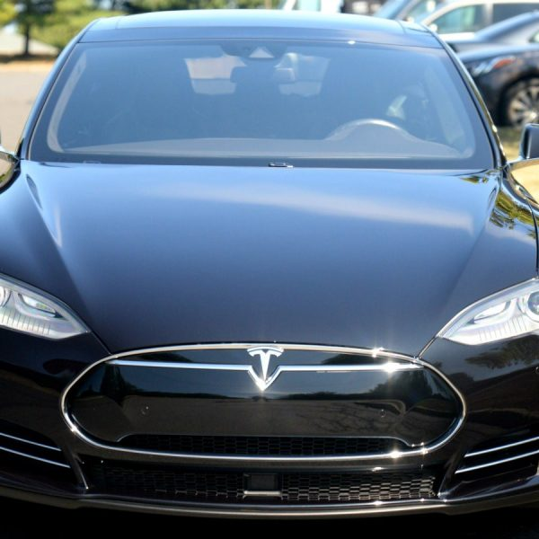 Tesla Model S shines after paint correction and ceramic nano coating by signature detailing NJ.