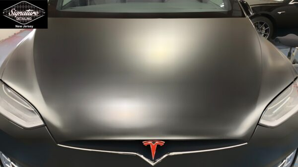 Tesla Model X had full color change & protection from a Matte Clearbra (PPF) installation by Signature Detailing NJ.