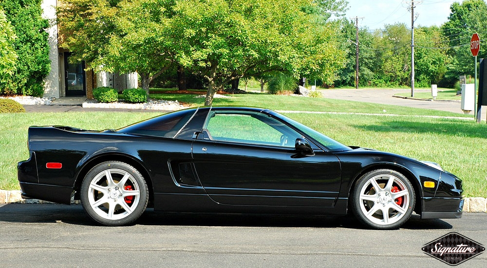Acura NSX - Signature Detailing New Jersey - two step paint correction & CQuartz FINEST - side view gloss
