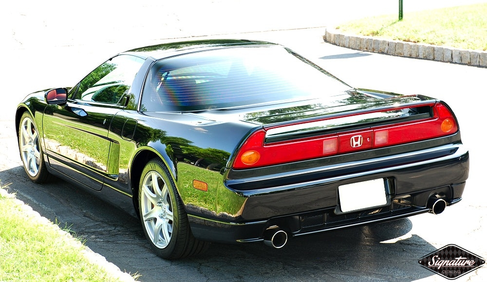 Acura NSX - Signature Detailing New Jersey - two step paint correction & CQuartz FINEST - rear view